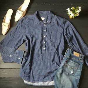 J.crew 100% cotton Semi Button Down Shirt